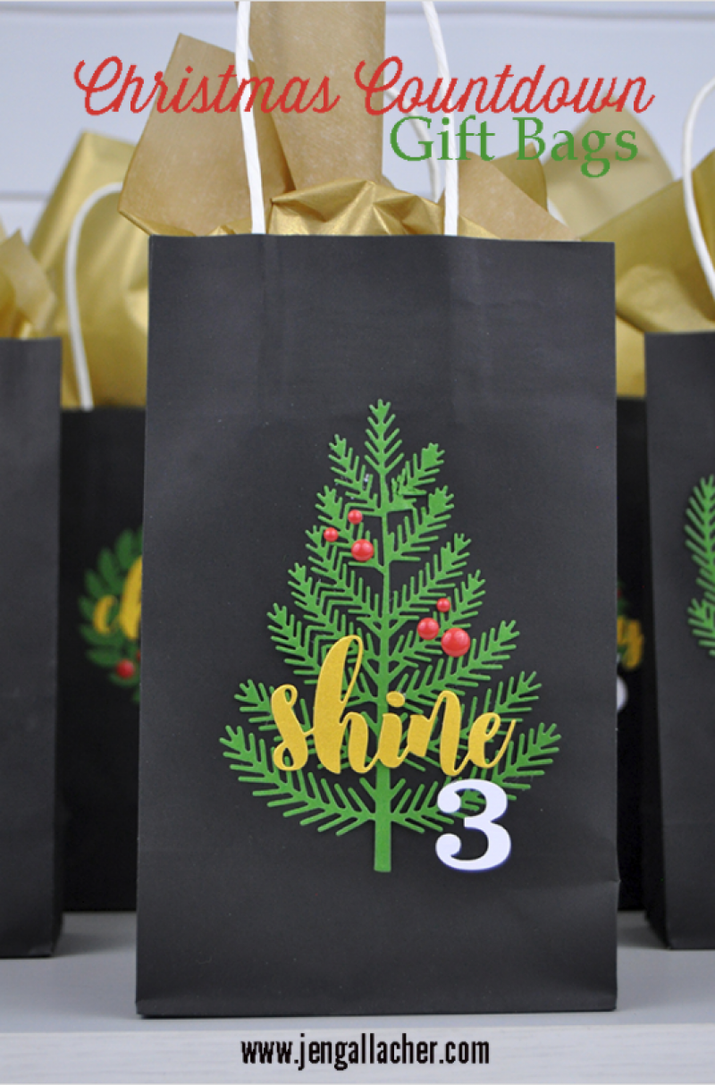 Christmas Countdown, gift bags, Jengallacher